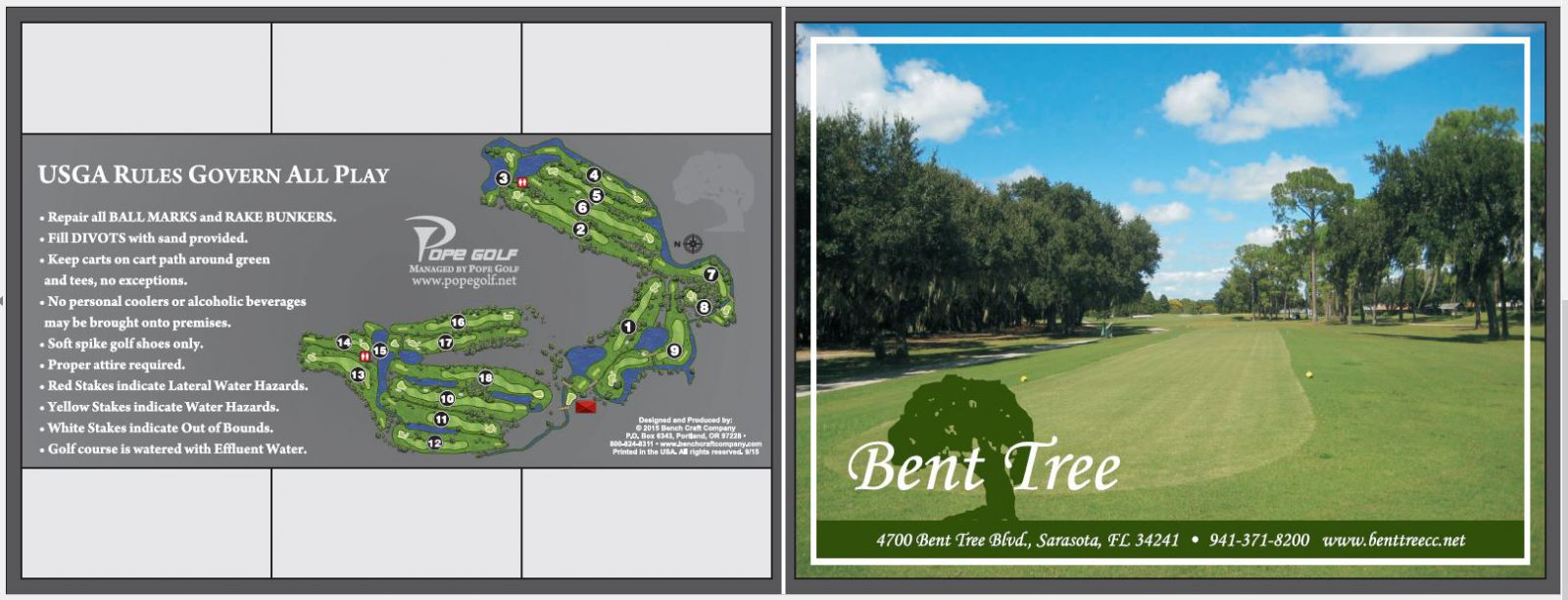 us open qualifiers have been hosted at bent tree in the past and the florida state high school championship was played at bent tree in 1998 and 1999